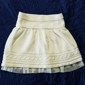 Baby Gap white sweater with tulle skirt size 4
